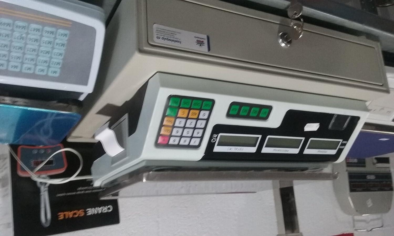 balanza bascula con impresora de ticket plana nueva: Amazon.es: Industria, empresas y ciencia