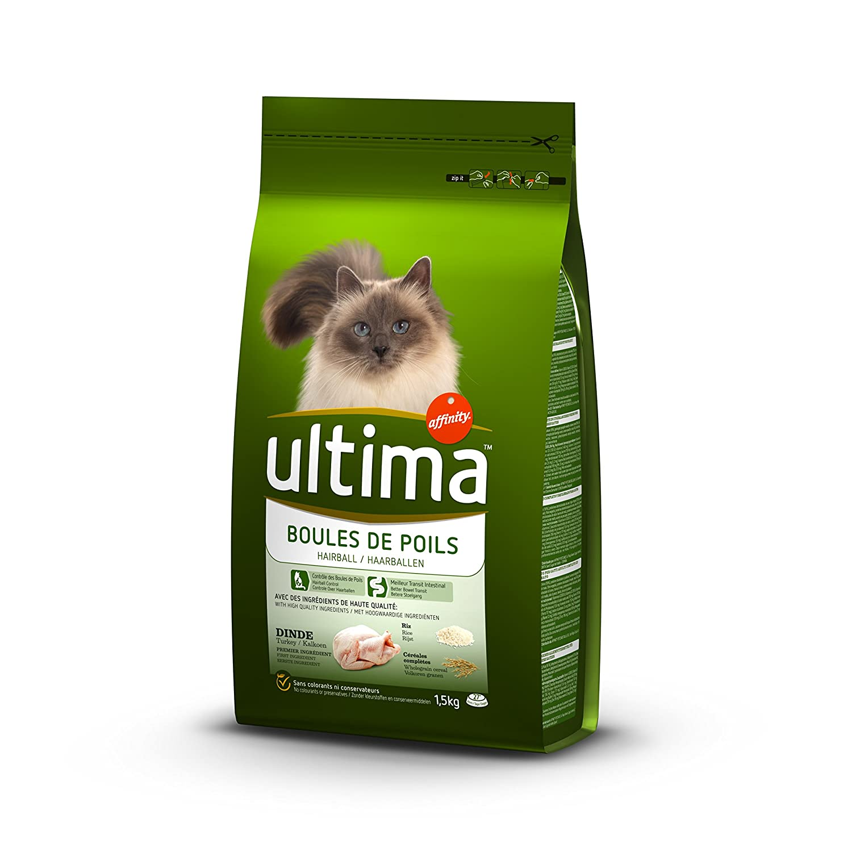 Ultima Croquettes pour Chat Adulte Appétit Difficile Truite et Riz 1, 5 kg 922147
