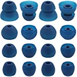 ALXCD Eartips for BeatsX In-Ear Headphone, 8 Pair S/M/L & Double Flange Durable Soft Silicone Replacement Earbud Tips, Fit for Beats by Dr. Dre Beats X [8 Pair/Blue]