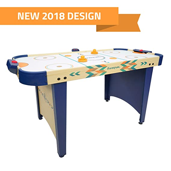 Review Harvil 4 Foot Air Hockey Game Table for Kids and Adults with Electronic Scorer, Free Pushers and Pucks