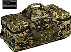 Protector Plus Tactical Travel Backpack 60L Military MOLLE Duffel Bag (Rain Cover & Patch Included)
