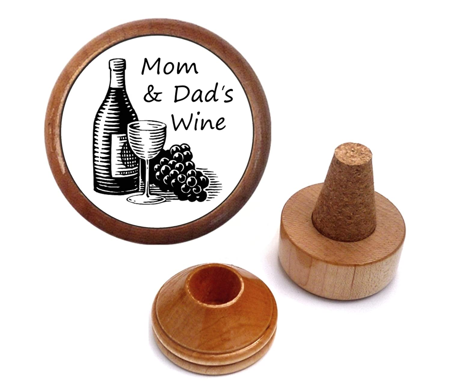 Personalized Mom and Dad gift idea | Wine Bottle stopper and cork holder