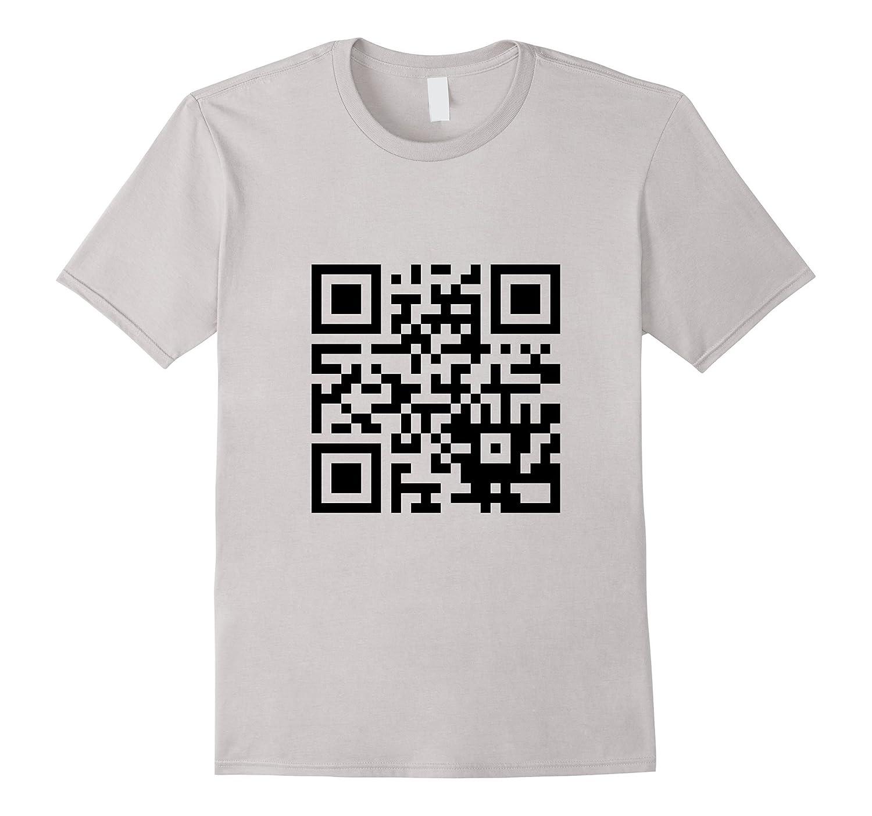 Geeky QR Code Funny Programmer Hacker Coder T-Shirt-FL