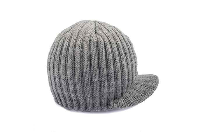 edef8695f31 Amazon.com  Born to Love - Grey Boy s Baby Visor Beanie with Tag ...