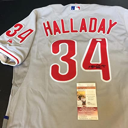 Roy Halladay Signed Inscribed quot Doc quot  Authentic Philadelphia Phillies  Jersey - JSA Certified - Autographed 5549499a8c5