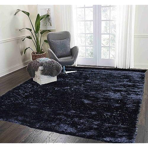black furry rug. Black Bedroom Furniture Sets. Home Design Ideas