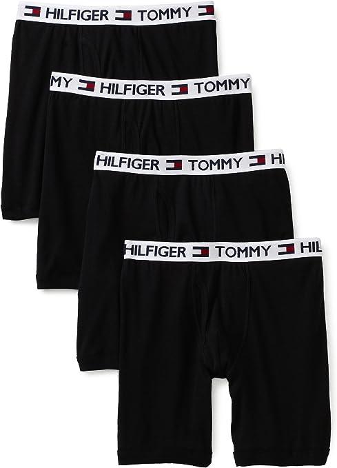 Tommy Hilfiger hombres de 4-Pack Boxer Brief - negro XXL: Amazon ...