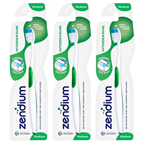 Zendium – Cepillo de dientes interdental, medio – Color aleatorio – – Juego ...
