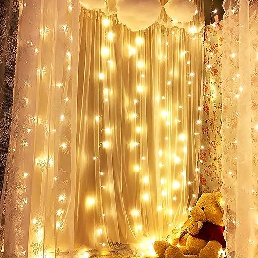 300 LED FILO DI LUCINE Finestra Tenda Indoor Decorazione Festa Matrimonio 3 COLORI