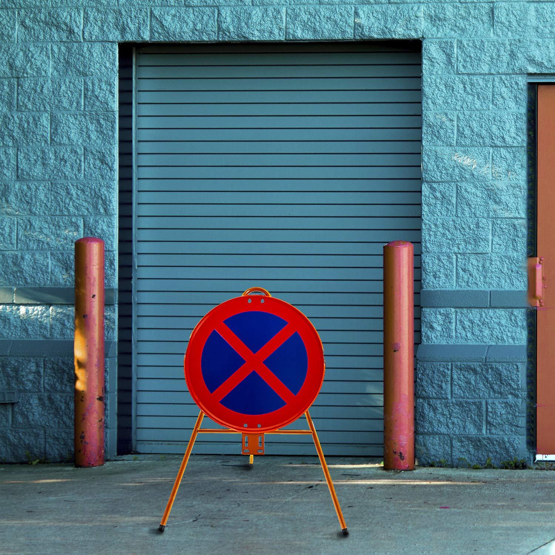 Normaluz V10022 Panneau roulant rond stop et stationnement interdit m/étallique thermolaqu/é 50 cm