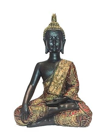 Buddha Figur In Gold 21 Cm Hoch