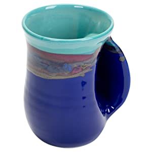 Clay in Motion Handwarmer Mug - Mystic Waters - Right Handed