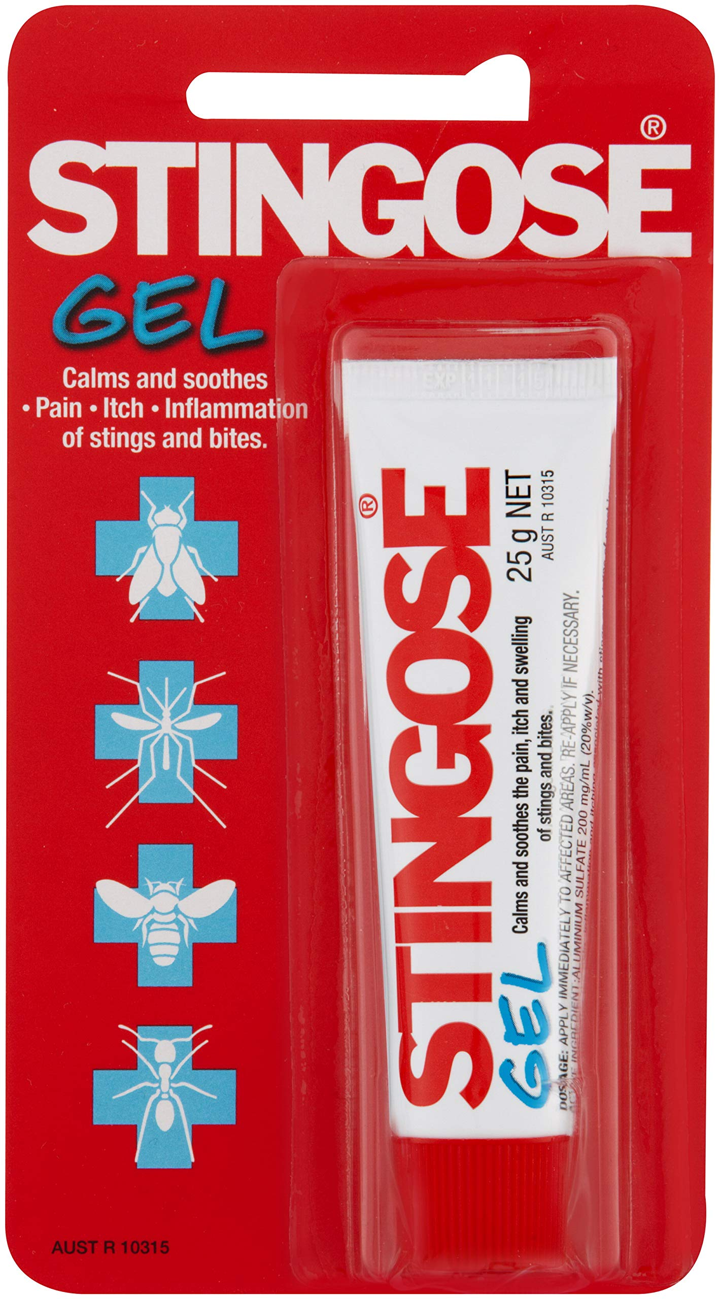 Stigose Gel - Fast Relief of Pain, Itch and Swelling from Bug Bites and Stings.  #1 Treatment in Australia. 25 gr. by Stingose