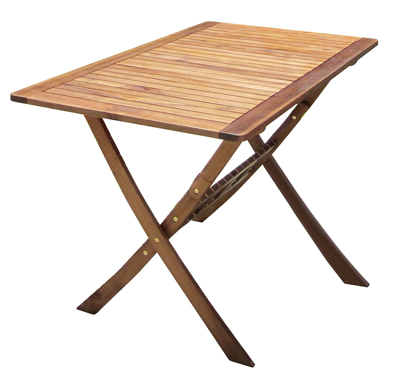 Charles Bentley Wooden Hardwood Furniture Rectangular Folding Table Charles Bentley Garden