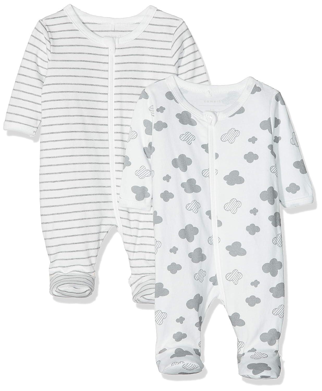 NAME IT Unisex Baby Schlafstrampler, 2er Pack 13156718