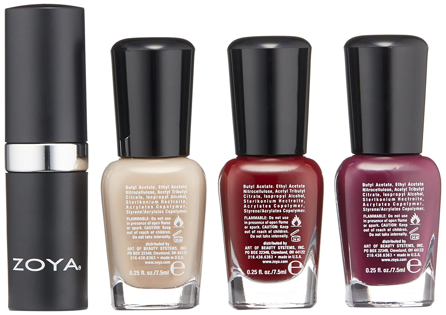 Amazon.com: ZOYA Nail Polish, Rosy Cheeks Lips & Tips Quad, 1 fl. oz ...