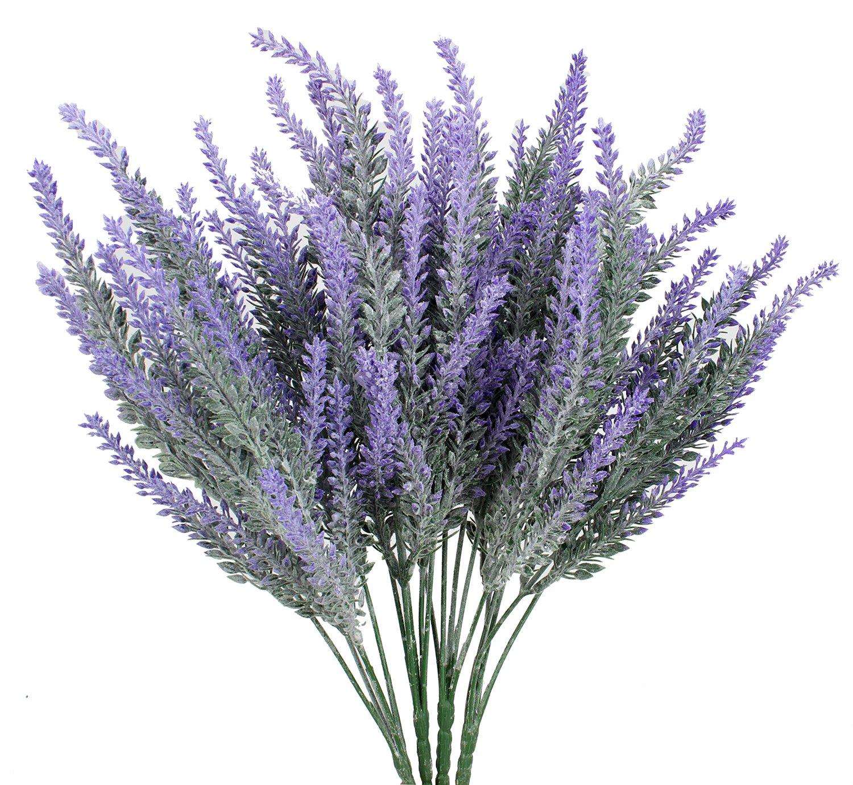 Duovlo 4pcs Lavender Artificial Flower Bouquet Home Bridal DIY Floor Garden Office Wedding Decor