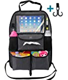 Organized Empire Backseat Car Organizer For Kids. Our XL Tablet/iPad Holder Fits Any Seat Perfectly and Has More Storage Space Than Any Other. Its a Breeze to Clean and Made to a Very High Standard
