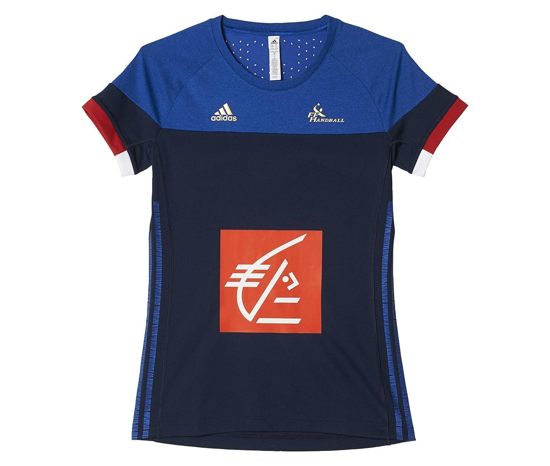 adidas FFHB Francia alas Mangas Camiseta, Todo el año, Mujer, Color Azul - Conavy/Corome, tamaño L: Amazon.es: Ropa y accesorios