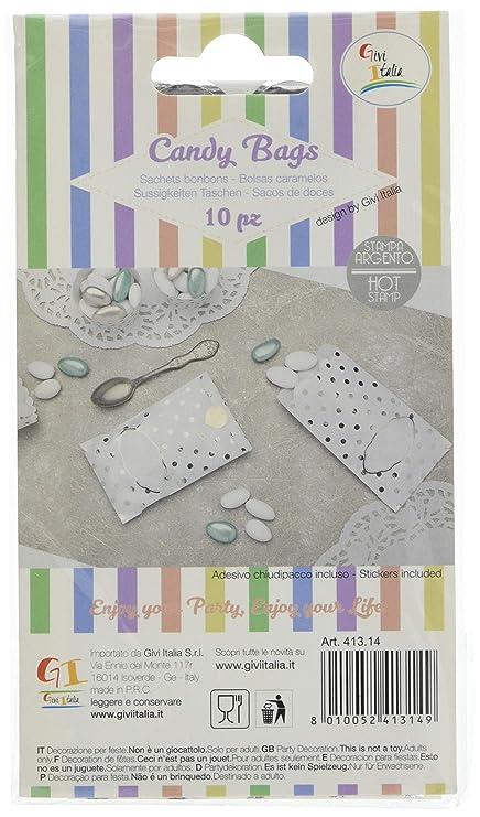 Amazon.com: Givi Italia 41314 10 Paper Bags, Silver Dots, 8 ...