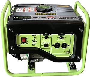 Green-Power America GN1750D 1750-Watt Propane and Gasoline Powered Dual Fuel Generator