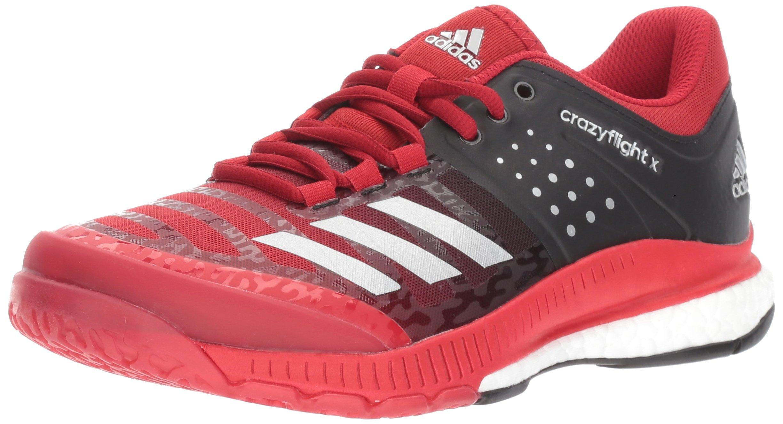 adidas Women's Shoes Crazyflight X Volleyball Shoe Black/Metallic Silver/Power Red,11.5