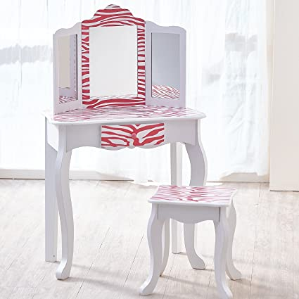 Image Unavailable. Image not available for. Color  Teamson Kids - Fashion  Prints Girls Vanity Table ... d328448e2