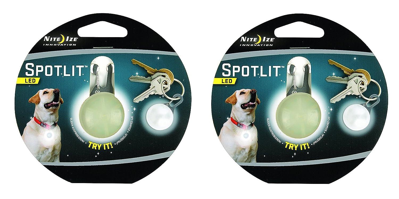 Nite Ize SpotLit Clip-On LED Light with Carabiner, Weather Resistant SLG-03-03