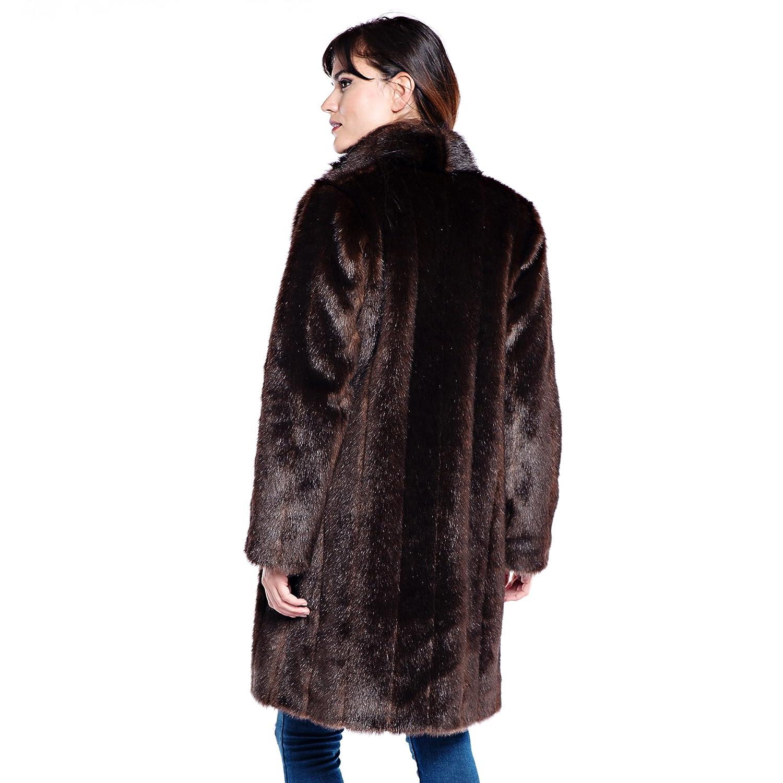 e02ab0e4cd7 Donna Salyers' Fabulous-Furs Signature Knee Length Faux Fur Coat at Amazon  Women's Coats Shop
