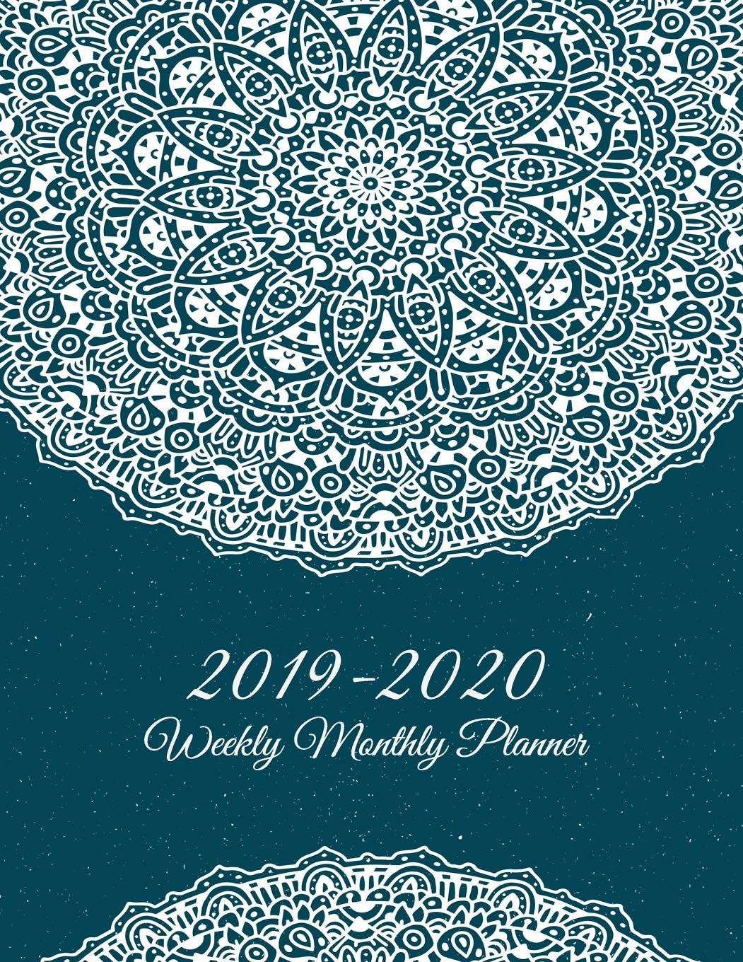 2019-2020 Weekly Monthly Planner: Blue Mandala Art Books ...
