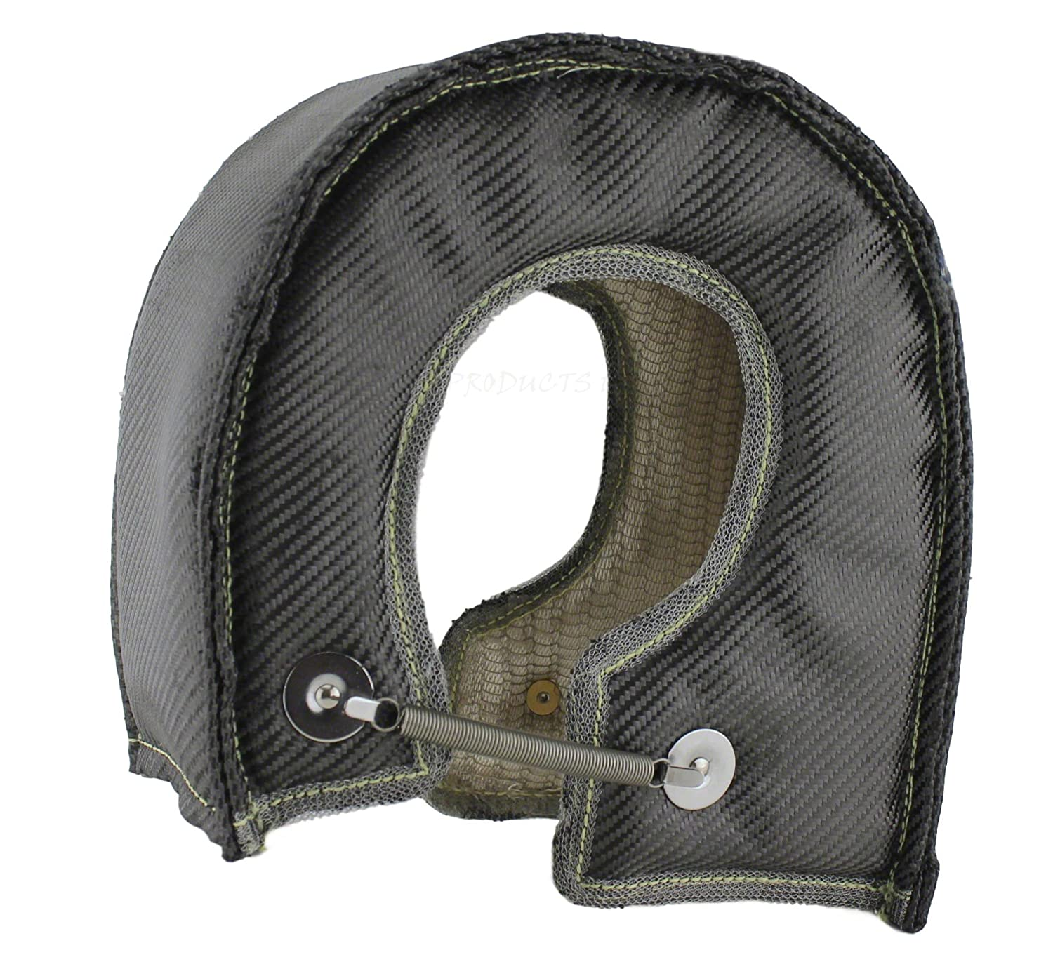 Standard Mesh, LT6ML - Large JCP Mesh Lined Titanium Turbo Blanket Heat Shield With Stainless Steel Ties