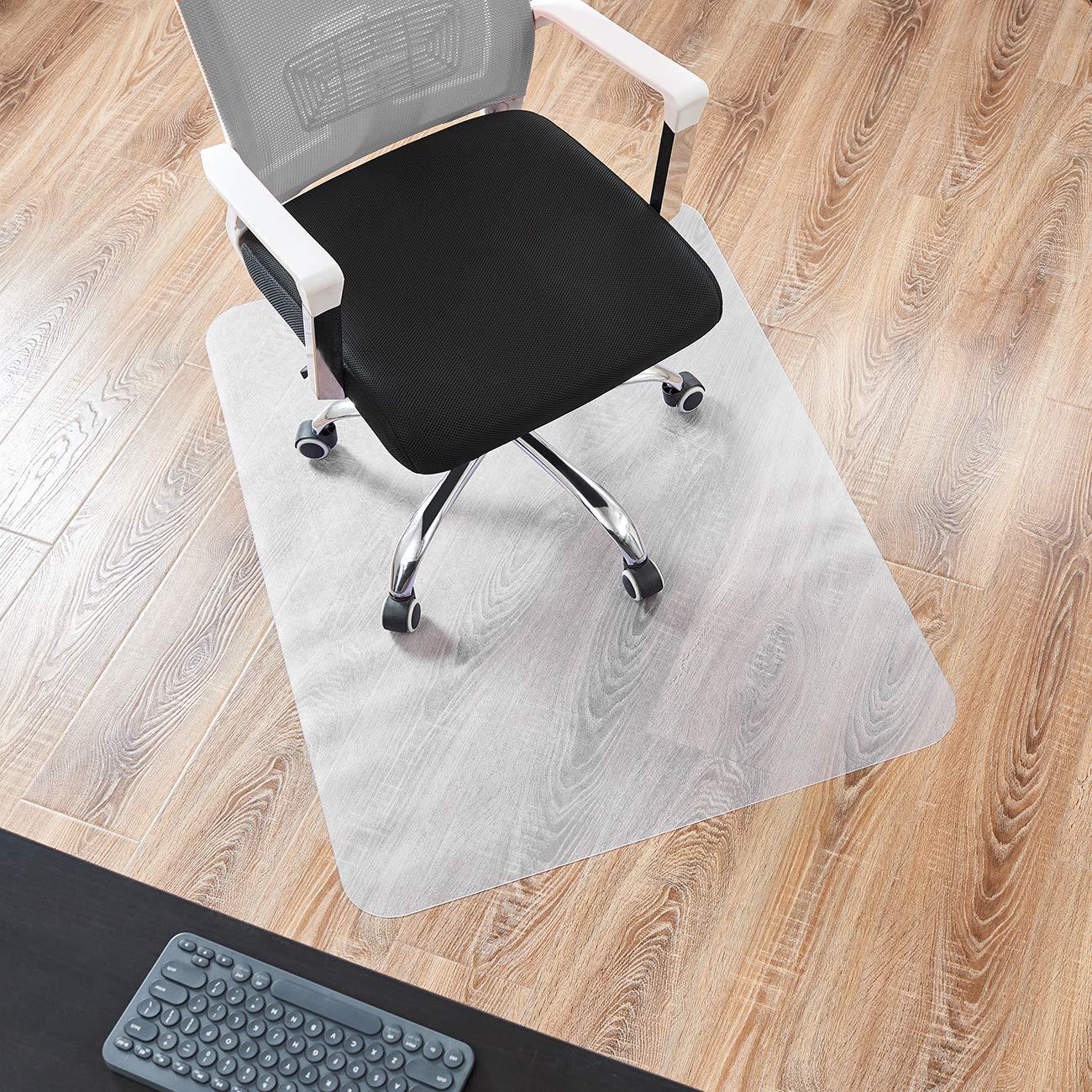 DAVID.ANN 36'' x 48'' Vinyl (PVC) Rectangular Chair Mat for Hard Floors(Transparent)