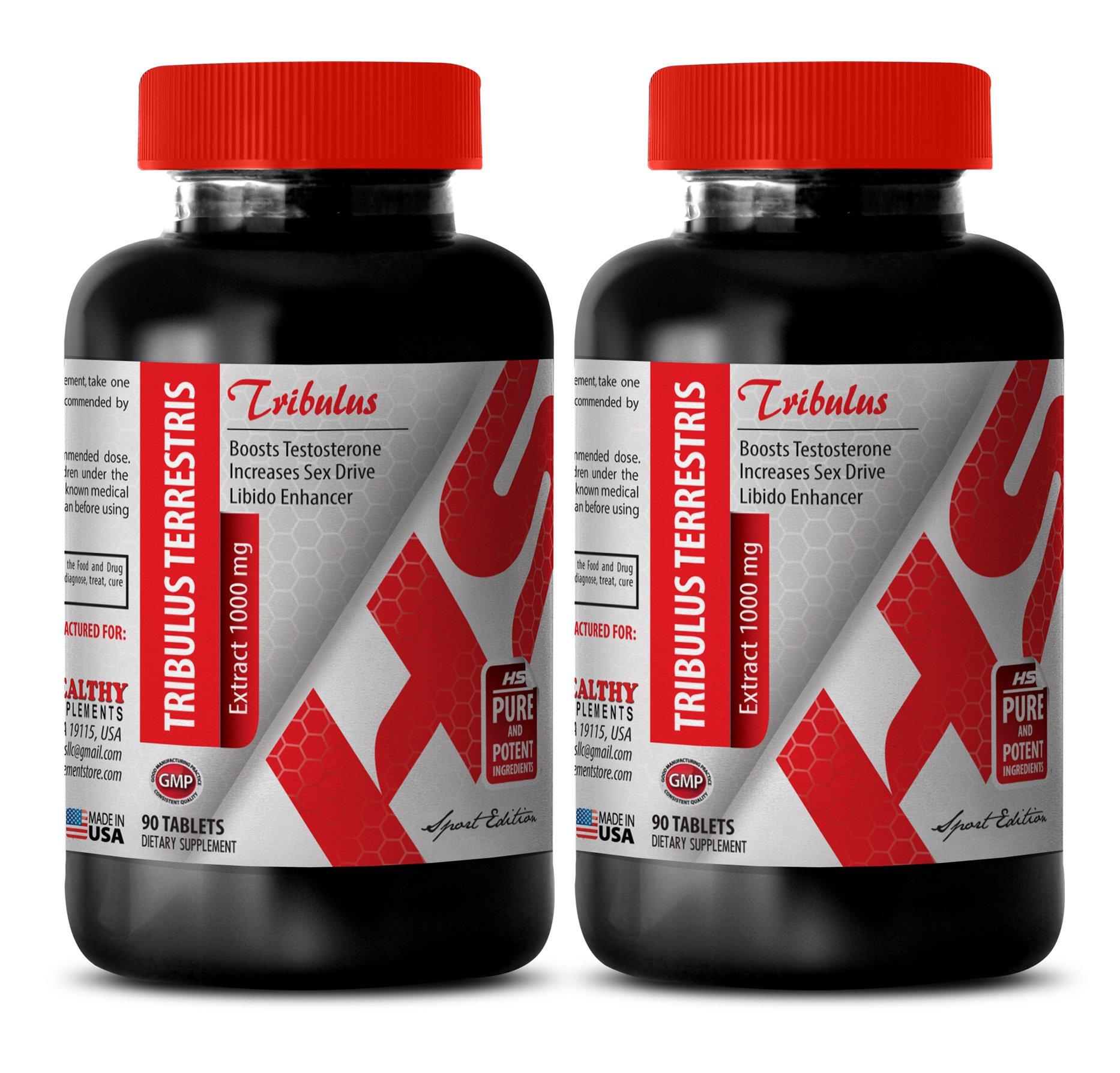 Tribulus fenugreek maca - EXTRACT 1000 MG TRIBULUS TERRESTRIS - increase libido (2 Bottles 180 Tablets)