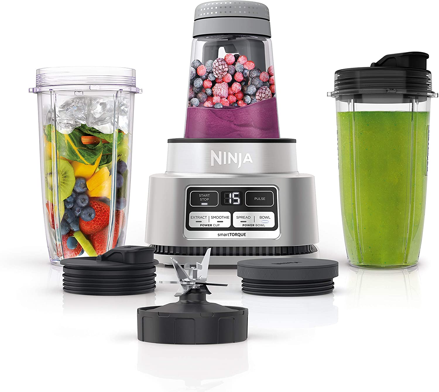 Ninja Foodi SS101 Smoothie Bowl Maker and Nutrient Extractor* 1200WP smartTORQUE 4 Auto-iQ Presets. One base, multi-functions (Renewed)