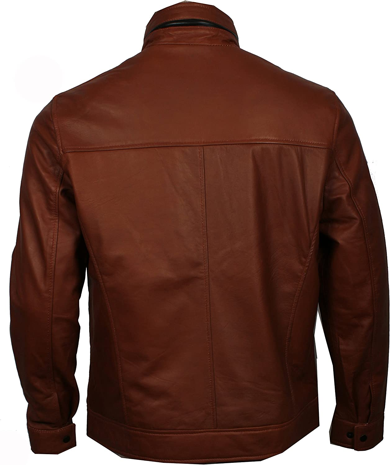 US Leather Mens Classic Vintage SlimFit Genuine Leather Jacket