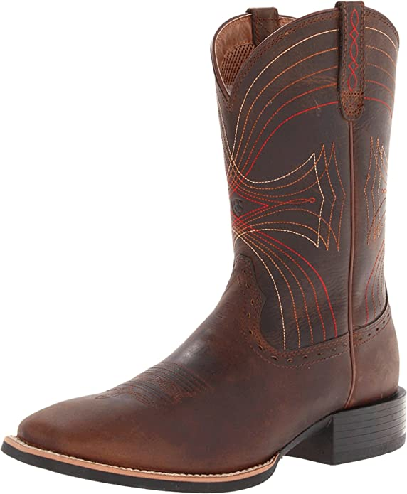 Amazon.com | Ariat Men's Sport Wide Square-Toe Western Cowboy Boot ...