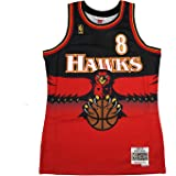 Mitchell & Ness Steve Smith 1996-97 Atlanta Hawks Swingman Road Red Jersey Mens