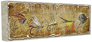 Stupell Home Décor Tie One On Fly Fishing Stretched Canvas Wall Art, 10 x 1.5 x 24, Proudly Made in USA