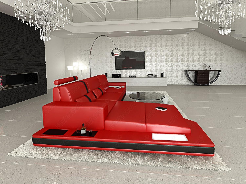 Divano Rosso E Nero : Divanova divano moderno proxima angolare in similpelle rosso e