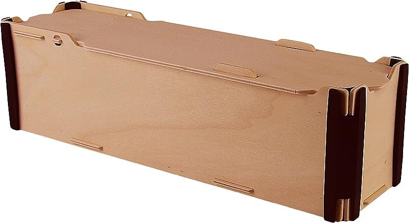 Pack de 3 Cajas de Vino Individuales - Madera y plástico - Montaje manual tipo puzzle - Ideal para regalos: Amazon.es: Hogar