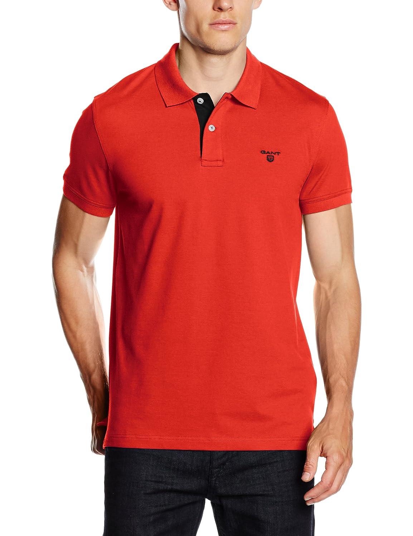 GANT Herren Poloshirt Men's Contrast Collar Pique Ss Rugger