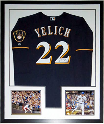 sale retailer 97349 64624 Christian Yelich Signed Authentic Majestic Milwaukee Brewers ...