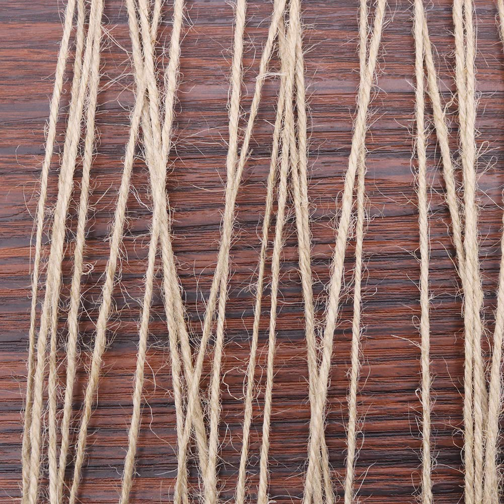 1000 Feet Natural Jute Twine String, Tenn Well 3Ply 2mm Arts and Crafts Twine for Gift Wrapping, Picture Display, Wedding Invitations, Packaging (3pcs x 335 Feet) by Tenn Well (Image #2)