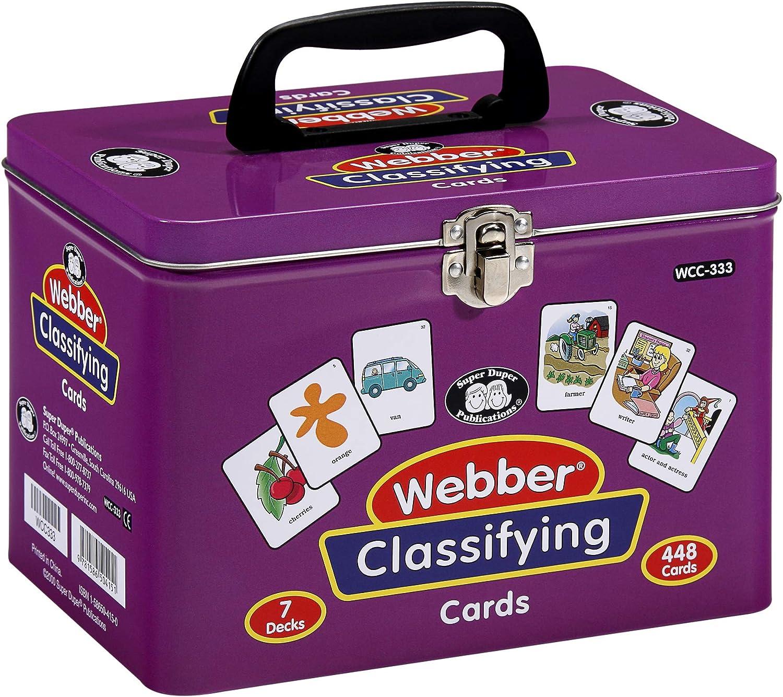 1586504150 Super Duper Publications Set of 7 Webber Classifying Card Decks Educational Learning Resource for Children 812J2Bmz3YrL.SL1500_