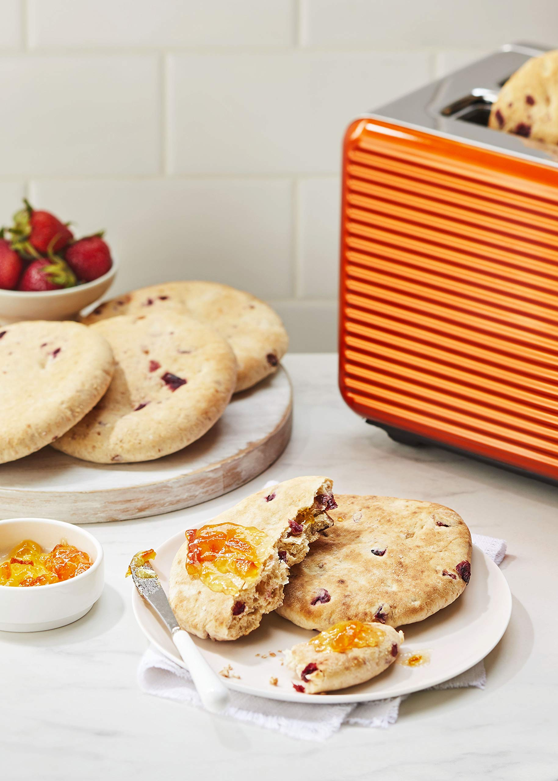 OZERY BAKERY Morning Round Pita Bread, Cranberry Orange, 12.7 Ounce (Pack of 6) by Ozery Bakery Inc. (Image #5)