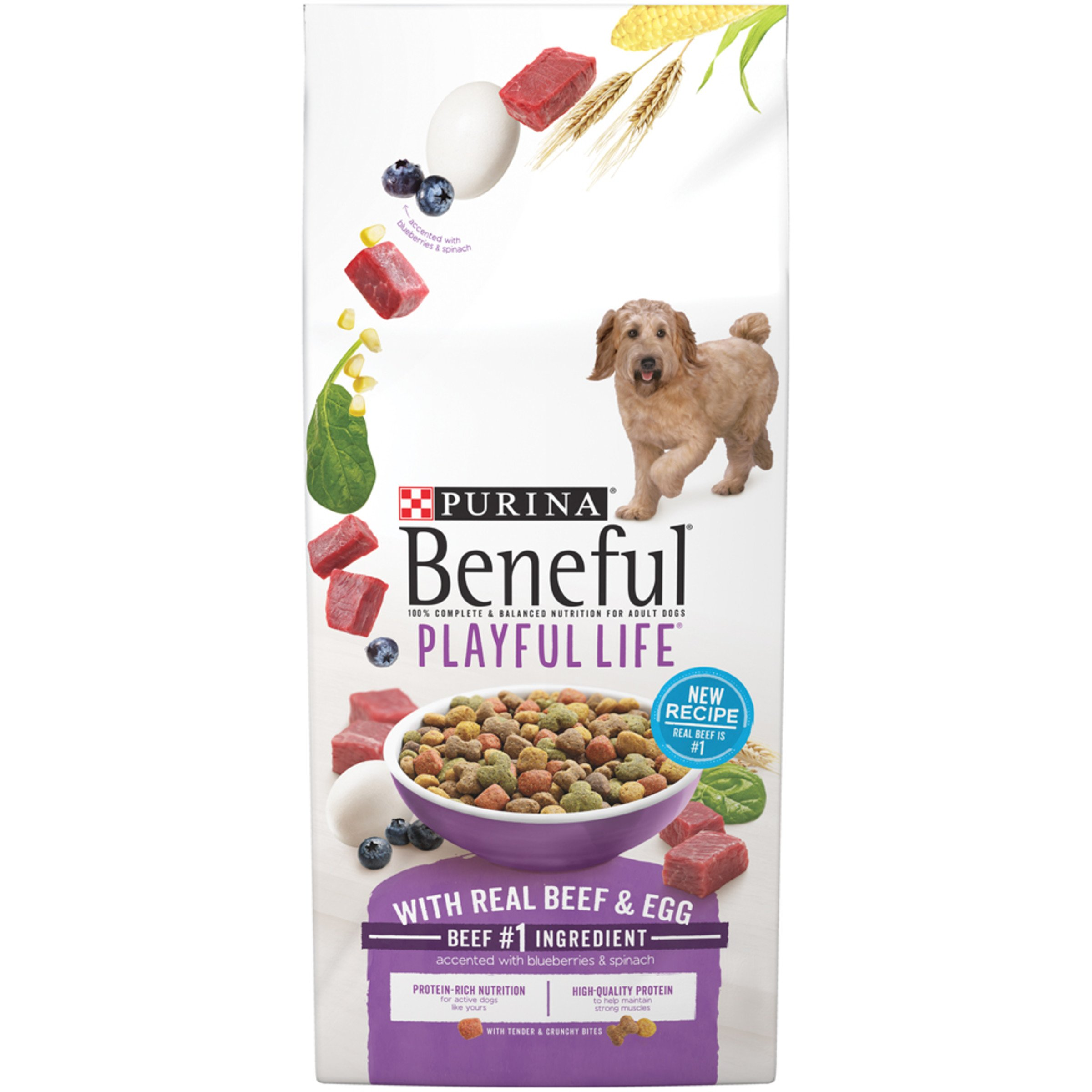 Purina Beneful Playful Life With Real Beef & Egg Dry Dog Food - 31.1 lb. Bag by Purina Beneful (Image #1)