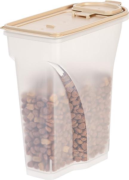 Superieur IRIS Premium Airtight Pet Food Storage Container, 6 Pounds, Almond