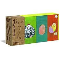 Clementoni - 16226TR - Play For Future - Sequence Puzzle - Hayat Döngüsü, eğitici oyuncak