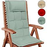 Jago Cuscino giardino cuscino sedie mobili giardino cuscini esterno 120 x 50 cm grigio