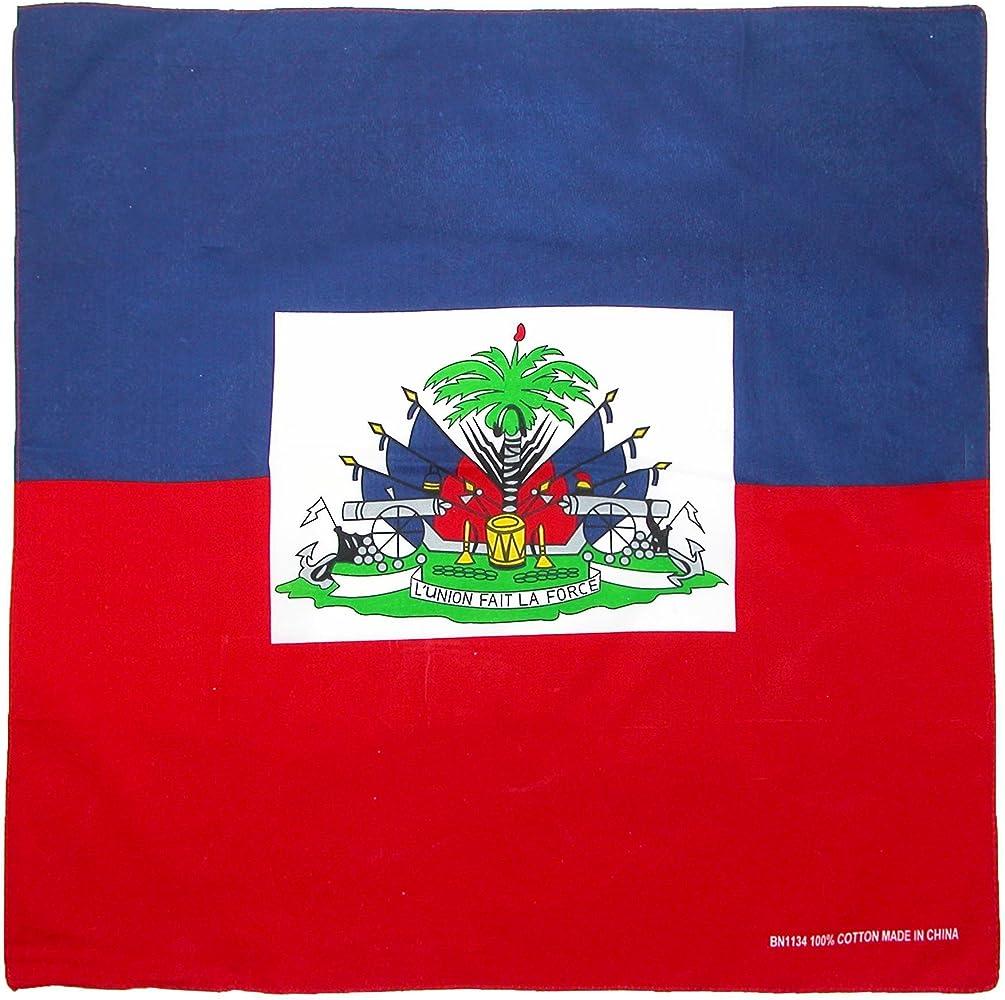 CTM Conjunto de Bandanas de algodón bandera haitiana para hombre ...